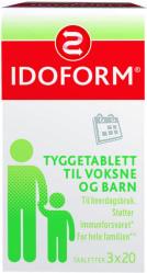 Pfizer Idoform Tyggetablett til voksne og barn 3 x 20