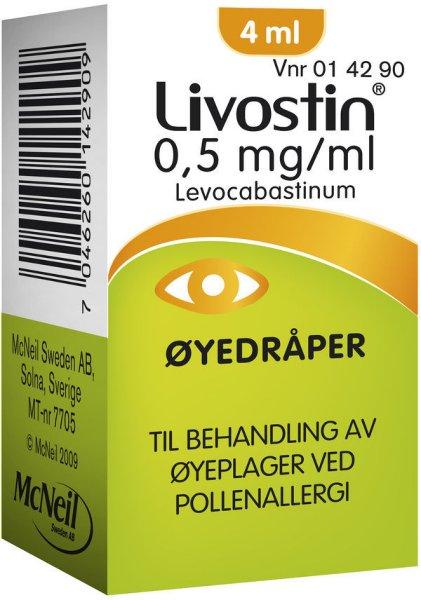 McNeil Livostin Øyedråper 0,5mg/ml 4 ml