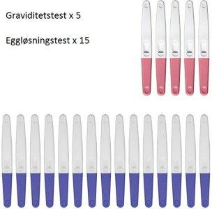 Graviditetstest 5 stk & Eggløsningstest 15 stk