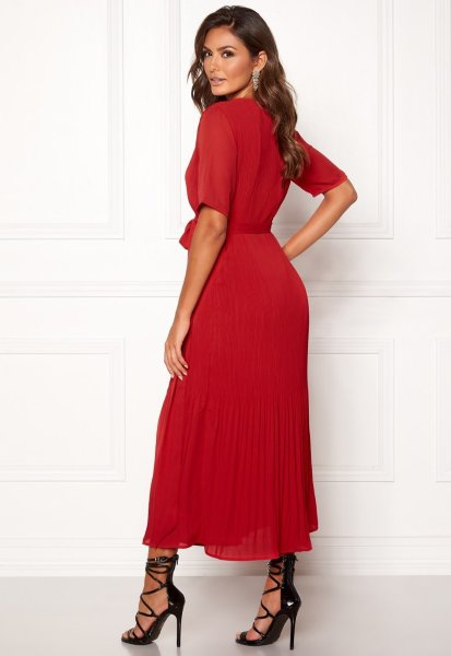 Selected Femme Piper 2/4 Wrap Dress