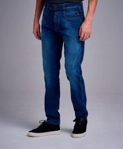 Blue Anbass Hyperflex Clouds Jeans  Replay  Slim-fit jeans - Herreklær er billig