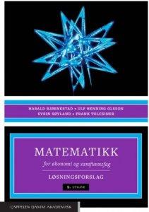 Matematikk for økonomi og samfunnsfag: Løsningsforslag