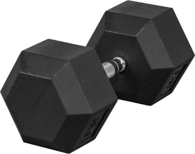 Gorilla Sports Hex Rubber Dumbbell 40kg