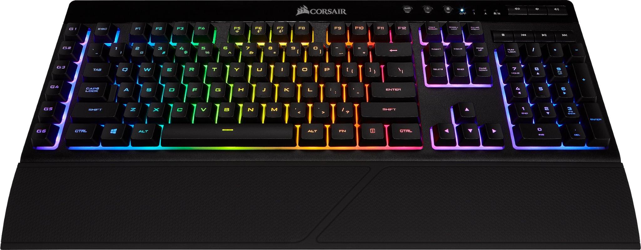 Corsair K57 RGB Trådløs Tastatur Nordisk Svart   Dustinhome.no