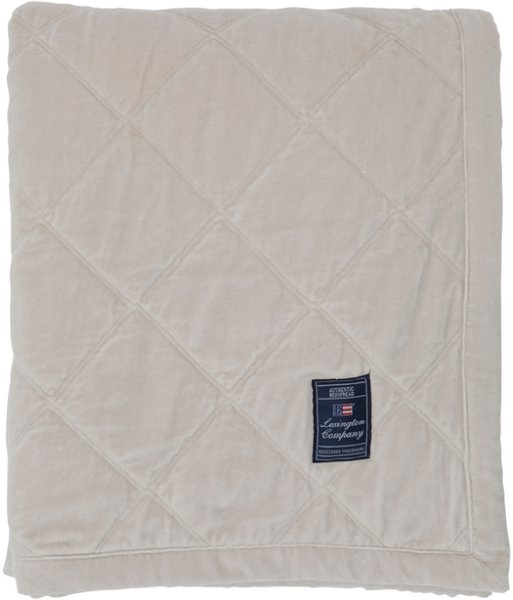 Lexington Quilted Velvet sengeteppe