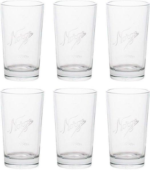 Hadeland Glassverk Norgesglasset kjøkkenglass 40cl 6 stk