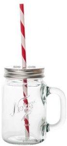 Hadeland Glassverk Norgesglasset Seidelglass med sugerør 2 stk