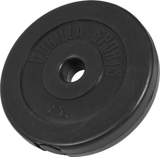 Gorilla Sports Vinyl Vektskive 1,25kg