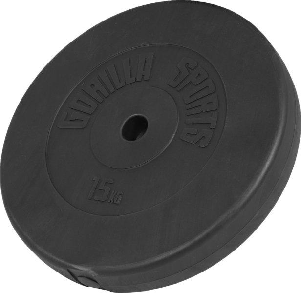 Gorilla Sports Vinyl Vektskive 15kg