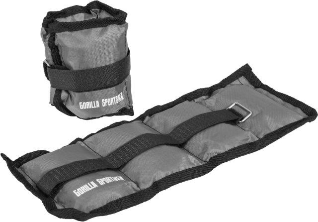 Gorilla Sports Vekter for ankler og håndledd 2 kg