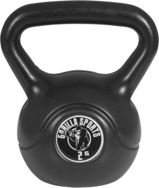 Gorilla Sports Kettlebells i Hardplast 2 kg
