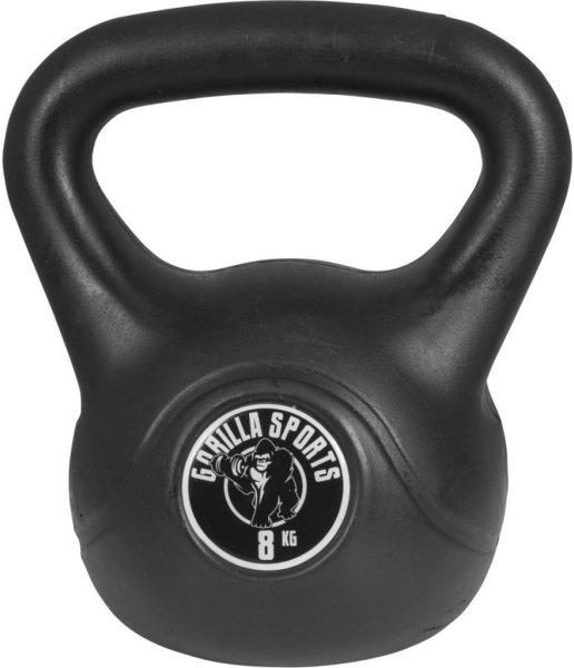Gorilla Sports Kettlebells i Hardplast 8 kg