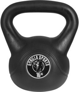 Gorilla Sports Kettlebells i Hardplast 16 kg