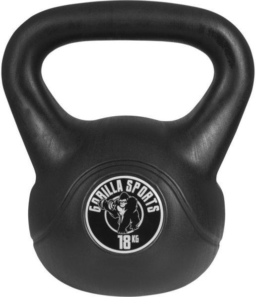 Gorilla Sports Kettlebells i Hardplast 18 kg
