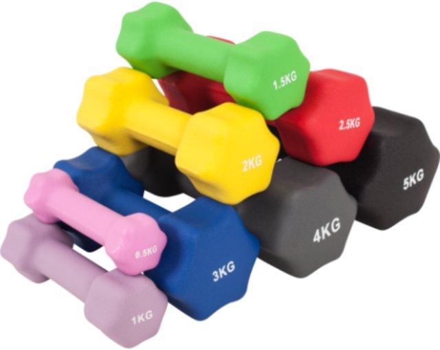 Gorilla Sports Neopren Dumbbells 2 kg