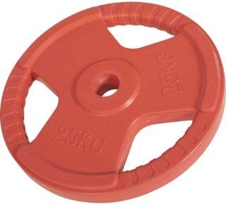 Gorilla Sports Olympic Rubber Bumper Vektskive 25 kg