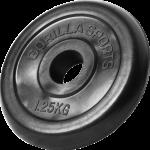 Gorilla Sports Gummibelagt Vektskive 1,25 kg