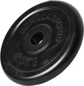 Gorilla Sports Gummibelagt Vektskive 2,5 kg