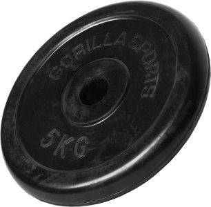 Gorilla Sports Gummibelagt Vektskive 5 kg