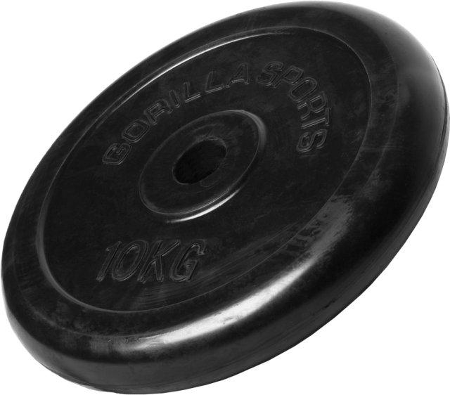 Gorilla Sports Gummibelagt Vektskive 10 kg