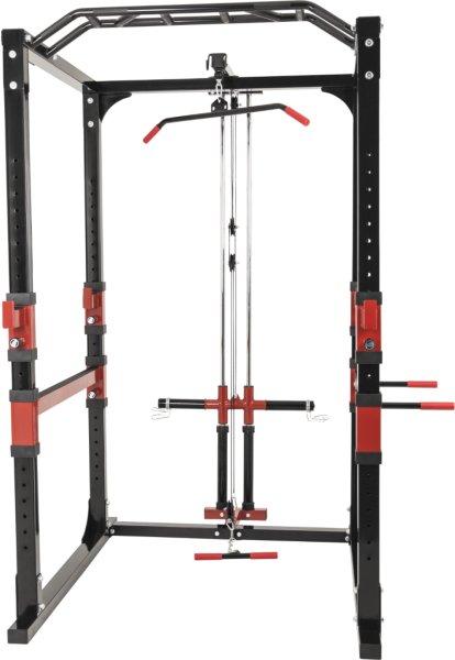 Gorilla Sports Powerlifting Station Rack inkl. Nedtrekk