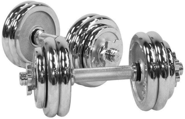 Gorilla Sports Chrome Dumbbell Vektsett 30 kg