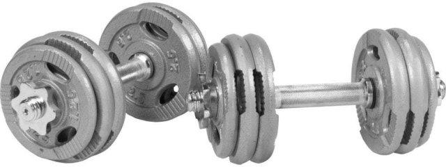 Gorilla Sports Tri Grip Dumbbell Vektsett 30 kg