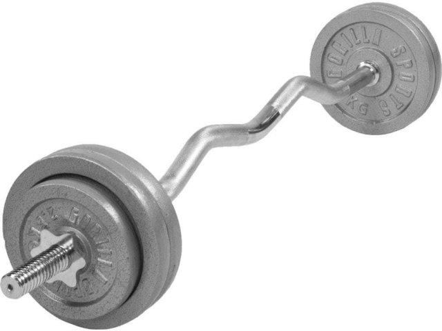 Gorilla Sports Cast Iron EZ Curl Vektsett 35 kg