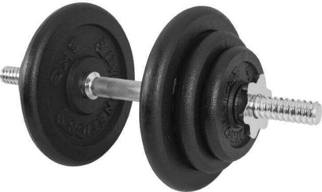 Gorilla Sports Dumbbell Vektsett Helstøpte Skiver 20 kg