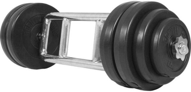 Gorilla Sports Vinyl Tri Grip Triceps Vektsett 35 kg