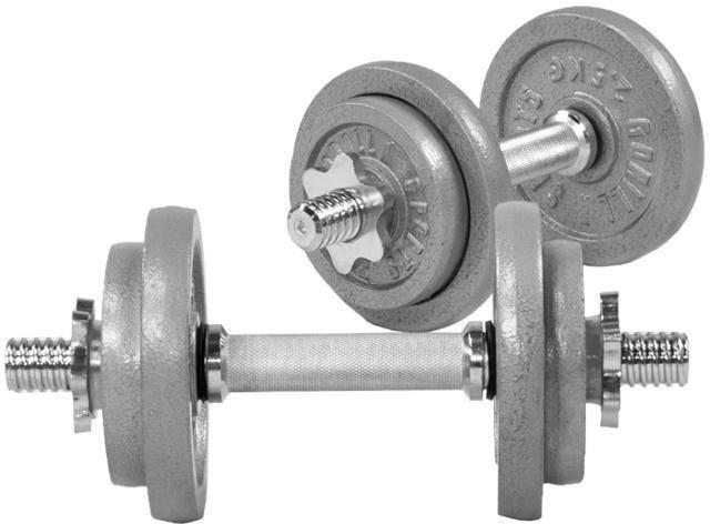 Gorilla Sports Cast Iron Dumbbell Vektsett 20 kg