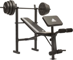 Adidas Treningsbenk med 45kg vektsett