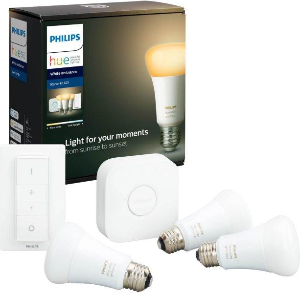 Philips Hue White Ambiance E27 Bluetooth Startpakke