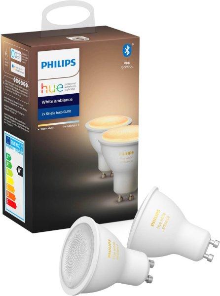 Philips Hue White Ambiance GU10 BT 2-pack