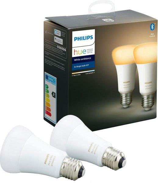 Philips Hue White Ambiance E27 Bluetooth 2-pack