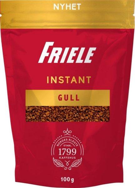 Friele Kaffe Instant Gull refill 100g 6 poser