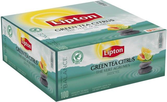 Lipton Green Tea Citrus 100 stk