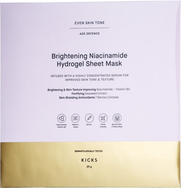 KICKS Beauty Brighthening Niacinamide Hydrogel Sheet Mask