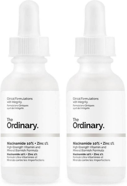 The Ordinary Niacinamide 10 % + Zinc 1 % High Strength Vitamin and Mineral Blemish Formula Duo