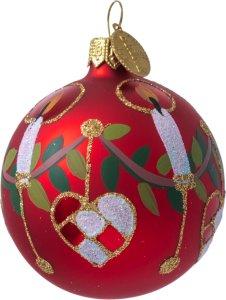Julekule med flettehjerte