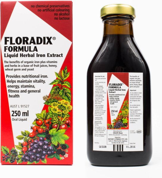 Floradix Formula jernekstrakt 250ml