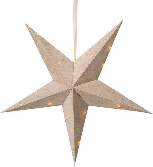 Star Trading Fløyelsstjerne + lyslenke