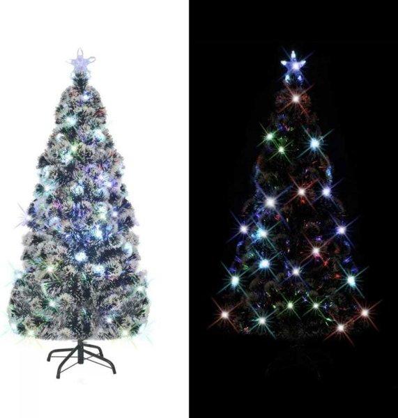 VidaXL Kunstig juletre med stativ/LED 180 cm 220 grener