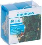 Grundig Julebelysning 80 LED innendørs med batterier