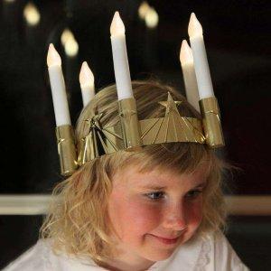 Best Season Luciakrone med LED lys