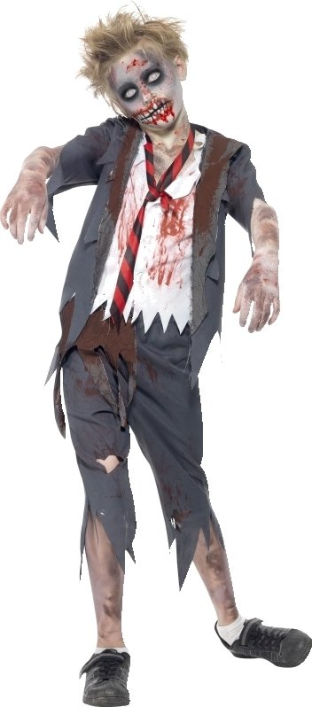 Zombie skolegutt skole gutt kostyme Halloween