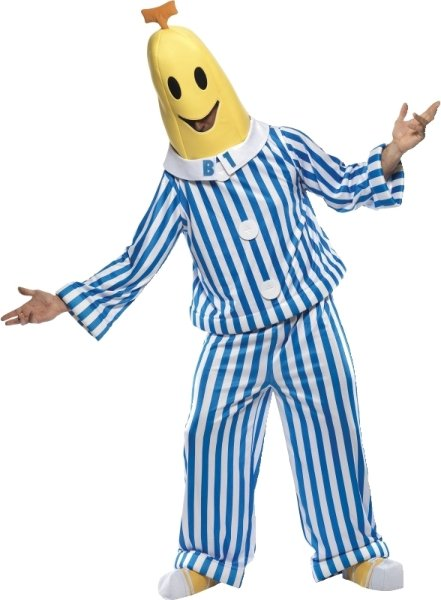 Smiffys Bananer i pyjamas (Voksen)