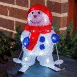 Konstsmide Snømann med ski LED
