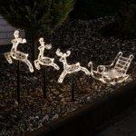 Konstsmide Reinsdyr med slede LED