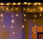 Konstsmide Isregn lysforheng LED 200 varmhvite lys